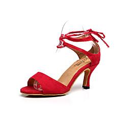 5a5823c5566e Χαμηλού Κόστους Παπούτσια χορού λάτιν-Γυναικεία Παπούτσια χορού λάτιν  Χνούδι Πέδιλα Αγκράφα Τακούνι Στιλέτο Εξατομικευμένο
