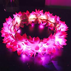 billige Hår Smykker-Dame / Pige Blomster / Oplyst / Selvlysende Hårbånd - Stof Blomst