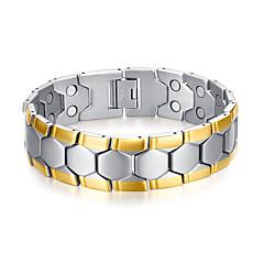Erkek Zincir & Halka Bileklikler Paslanmaz Çelik Altın Kaplama Moda Çok güzel Stres Bilekliği Hipoalerjenik Geometric Shape Altın Mücevher