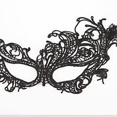 Cosplay Maske Unisex Halloween Fest/Feiertage Halloween Kostüme Schwarz einfarbig Spitze