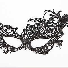 cosplay Maska Unisex Halloween Festival/Svátek Halloweenské kostýmy Černá Jednobarevné Krajka