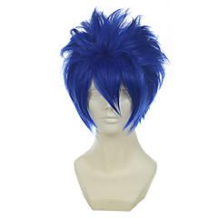 billiga Peruker och hårförlängning-Syntetiska peruker / Kostymperuker Rak Syntetiskt hår Blå Peruk Dam Cosplay Peruk Utan lock