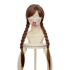 billiga Peruker och hårförlängning-Syntetiska peruker / Kostymperuker Rak Syntetiskt hår Peruk Dam Utan lock Beige