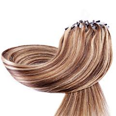 Χαμηλού Κόστους Εξτένσιον με Μικρούς Κρίκους-Neitsi Εξτένσιον με Μικρούς Κρίκους Επεκτάσεις ανθρώπινα μαλλιών Ίσιο Εξτένσιον από Ανθρώπινη Τρίχα Φυσικά μαλλιά Γυναικεία