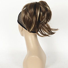 cheap Wigs & Hair Pieces-12 inch Adjustable Messy Style Ponytails Synthetic Hair Hair Piece Hair Extension Straight Short
