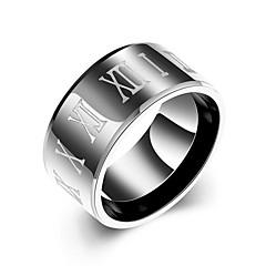Ringer Bryllup / Party / Daglig / Avslappet / Sport Smykker Rustfritt Stål Herre Ring 1 stk,7 / 8 / 9 / 10 Svart