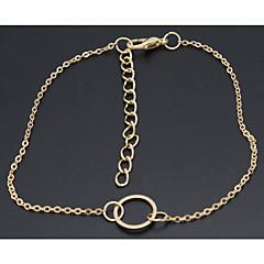 baratos Bijoux de Corps-Tornezeleira - senhoras, Europeu, Estilo simples Dourado Para Festa Diário Casual Mulheres