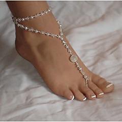 baratos Bijoux de Corps-Camadas Tornezeleira - Pérola, Imitação de Pérola Guloseima, Europeu, Multi Camadas Branco Para Diário Casual Mulheres