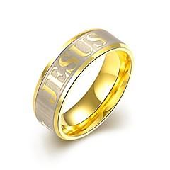 男性用 指輪 婚約指輪 初期ジュエリー あり 欧風 コスチュームジュエリー ステンレス鋼 ゴールドメッキ ジュエリー 用途 結婚式 パーティー 日常 カジュアル スポーツ