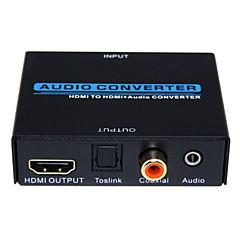 baratos -conversor de áudio HDMI para HDMI conversor de áudio 1080p Entrada 3D HDMI para HDMI toslink de metal saída de áudio coaxial