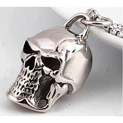 Men's Pendant Necklaces Jewelry Skull / Skeleton Titanium Steel Fashion Personalized Punk Costume Jewelry Jewelry For Wedding