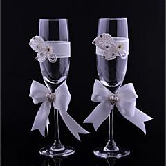 flautas de cristal 1 caixa de presente não personalizada caixa de recepção de casamento