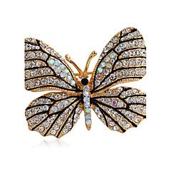 dámská módní slitina / štrasové brože šik pin strana / den / volný čas tvaru motýla šperky příslušenství 1ks