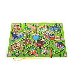 교육용 장난감 미로&순차 이동 퍼즐 미로 장난감 나무 조각 선물