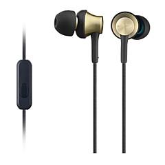 gusoll אוזניות HIFI אוזניות אוזניות ספורט מתכת MDR-ex650ap עבור iPhone Xiaomi עם מיקרופון