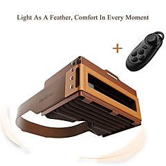 Focalmax Accordion VR Glasses Virtural Reality 3D Movie Video Game for 4.5 to 6 Inch Smartphone Nanoparticles Silicon Skin Close with Remote Controlle