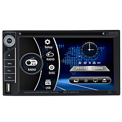 preiswerte Auto DVD-Player-6.2 2 Lärm-HD Touch-Auto-DVD-Player Stereo Bluetooth FM Radio USB / SD-Kamera-Eingang MP3 / WMA / mp4 / mp5 russ / portugiesisch /
