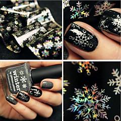 billige Negleklistremerker-1 3D Nail Stickers Klassisk Daglig Høy kvalitet Nail Art Design