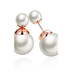 Damskie Kolczyki z piłką Pearl imitacja Klasyczny Imitacja pereł Round Shape Biżuteria Na Ślub Impreza Codzienny Casual