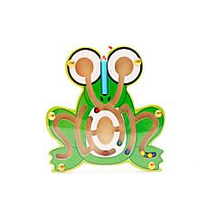 조립식 블럭 미로&순차 이동 퍼즐 루반 락 교육용 장난감 장난감 노블티 개구리 나무 카툰 1 조각 생일 어린이날 선물