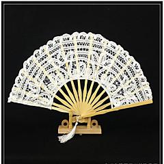 """Fanoušci a slunečníky-# Piece / Set Ruční ventilátor Bílá Černá 28 cm na výšku × 50 cm v průměru(11"""" na ýšku × 19 1 / 2"""" v průměru)28 cm"""