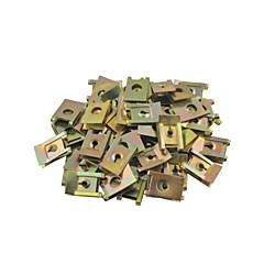 Clipuri 50 buc usa metalica masina primăvara șurub panouri spire de tip U de 6mm diametru