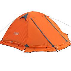 FLYTOP 2人 テント ダブル キャンプテント 1つのルーム テント 保温 防湿 通気性 携帯用 防雨 のために ハイキング キャンピング 旅行 屋外 >3000mm ポリ塩化ビニル オックスフォード cm