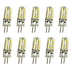 voordelige Decoratieve verlichting-Jiawen 10 stks 1 w 120lm g4 led bi-pins lichten maïs lamp 24led smd 3014 decoratieve kroonluchter lamp warm wit / koud wit ac / dc 12 v