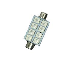 10X Rød 41mm 5050 8Smd Girlander Dome Kart Interiør LED Lyspærer De3423 6418