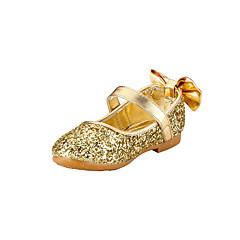 levne Svatební boty-Bez podpatku-Třpytky-Flower Girl Boty-Dívčí-Zlatá Stříbrná-Svatba Outdoor Šaty Běžné Party-Plochá podrážka