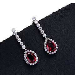 Women's Stud Earrings Bridal Zircon Cubic Zirconia Copper Jewelry For Wedding Daily Casual Sports