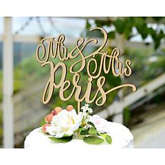 Decorações de Bolo Personalizado Papel de Cartão Casamento Amarelo Tema Clássico Tema vintage Tema rústico 1 Bolsa Poly