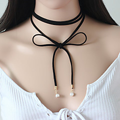 cheap Necklaces-Women's Flower Personalized Tattoo Style Vintage Simple Style Fashion Punk Euramerican Choker Necklace Tattoo Choker Y-Necklace Imitation