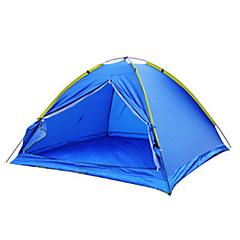 billige Telt og ly-3-4 personer Telt Enkelt camping Tent Ett Rom Brette Telt Vanntett Bærbar Ultra Lett (UL) Vindtett Støvtett Anti-Insekt Sammenleggbar