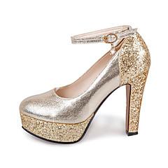 Damă Tocuri Primăvară Vară Toamnă Luciu Nuntă Casual Party & Seară Toc Gros Cristal Paiete Cataramă Auriu Argintiu