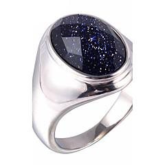男性用 ステートメントリング 指輪 ファッション ギャラクシー 合成宝石類 チタン鋼 ジュエリー 用途 日常 カジュアル