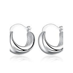 Round 925 Silver Earrings.