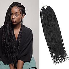 billiga Peruker och hårförlängning-twist Flätor Hårflätor Senegal 100% Kanekalon-hår Mörkbrun Hår till flätning Hårförlängningar