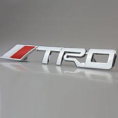 TRD chroom racing embleem kofferbak badge 3d metal sticker sticker