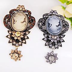 levne Špendlíky a brože-dutá retro krása květ květinové brože přívěsek elegantní styl