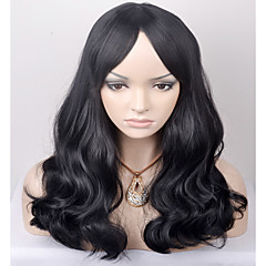 cheap Wigs & Hair Pieces-europe and the united states in the new long term shawl wave black in the high temperature wire wig
