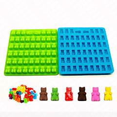 billige Bakeredskap-Bakeware verktøy Silikon Non-Stick Ferie 3D For Godteri Dyr Bakeform 1pc