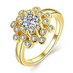 女性用 バンドリング 合成ダイヤモンド 幾何学形 ファッション あり かわいいスタイル ケバケバ ゴールド ジルコン キュービックジルコニア ローズゴールドめっき 合金 幾何学形 ジュエリー ジュエリー 用途 結婚式 パーティー