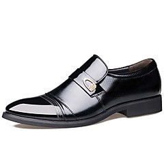 Men's Formal Shoes Leather Spring / Fall Business / Comfort Oxfords Waterproof Black / Brown / Party & Evening / Leather Shoes
