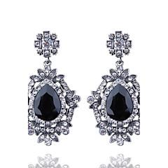 Damla Küpeler alaşım Siyah Kırmzı Yeşil Mavi Mücevher Için Düğün Parti Günlük 1 çift