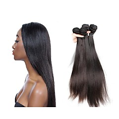 billige Remy fletninger af menneskehår-Jomfruhår Remy fletninger af menneskehår Lige Brasiliansk hår 300 g Over et år