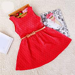 tanie Odzież dla dziewczynek-Dzieci Dla dziewczynek Koronka Jendolity kolor Bez rękawów Sukienka