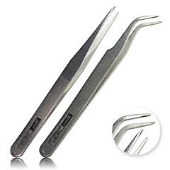 2 Pcs/Set Acrylic Gel Nail Art Rhinestones Paillette Nipper Picking Tool Tweezers