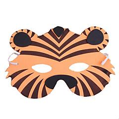 billige Originale moroleker-Dyremaske Tiger Plast Voksne Unisex Gutt Jente Leketøy Gave 1 pcs