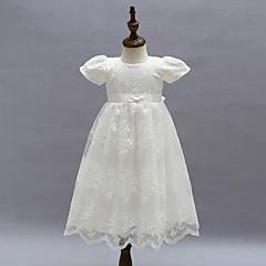 billige Babykjoler-Baby Pige Pænt tøj Fest Blomstret Kortærmet Kjole